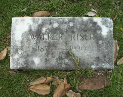RISER, WALKER - Lincoln County, Louisiana | WALKER RISER - Louisiana Gravestone Photos
