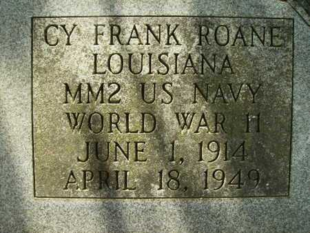 ROANE, CY FRANK (VETERAN WWII) - Lincoln County, Louisiana | CY FRANK (VETERAN WWII) ROANE - Louisiana Gravestone Photos