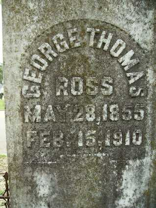 ROSS, GEORGE THOMAS (CLOSE UP) - Lincoln County, Louisiana | GEORGE THOMAS (CLOSE UP) ROSS - Louisiana Gravestone Photos