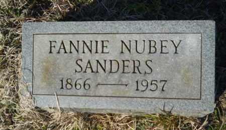 NUBEY SANDERS, FANNIE - Lincoln County, Louisiana | FANNIE NUBEY SANDERS - Louisiana Gravestone Photos