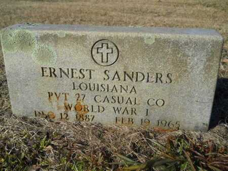 SANDERS, ERNEST (VETERAN WWI) - Lincoln County, Louisiana | ERNEST (VETERAN WWI) SANDERS - Louisiana Gravestone Photos