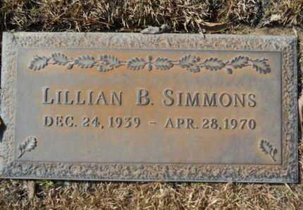 SIMMONS, LILLIAN B - Lincoln County, Louisiana | LILLIAN B SIMMONS - Louisiana Gravestone Photos