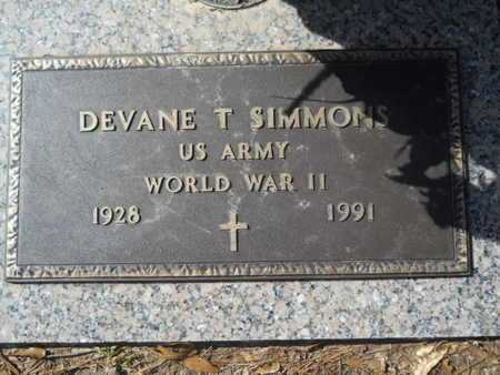 SIMMONS, DEVANE T (VETERAN WWII) - Lincoln County, Louisiana | DEVANE T (VETERAN WWII) SIMMONS - Louisiana Gravestone Photos