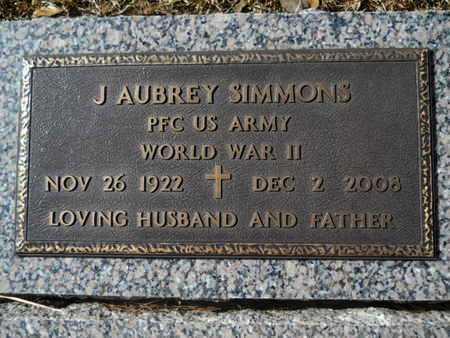 SIMMONS, J AUBREY (VETERAN WWII) - Lincoln County, Louisiana | J AUBREY (VETERAN WWII) SIMMONS - Louisiana Gravestone Photos