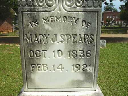 SPEARS, MARY J (CLOSE UP) - Lincoln County, Louisiana | MARY J (CLOSE UP) SPEARS - Louisiana Gravestone Photos
