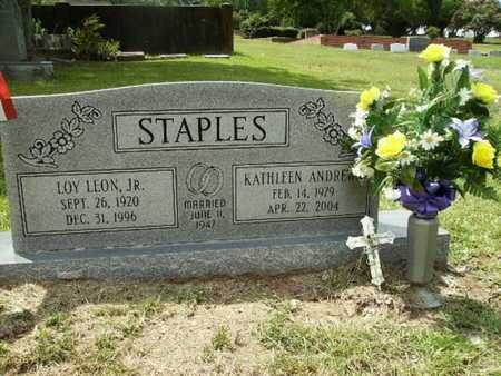 STAPLES, LOY LEON, JR - Lincoln County, Louisiana | LOY LEON, JR STAPLES - Louisiana Gravestone Photos