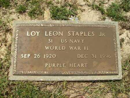 STAPLES, LOY LEON , JR (VETERAN WWII) - Lincoln County, Louisiana | LOY LEON , JR (VETERAN WWII) STAPLES - Louisiana Gravestone Photos