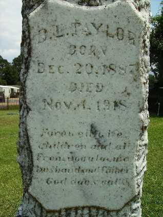 TAYLOR, B L (CLOSE UP) - Lincoln County, Louisiana | B L (CLOSE UP) TAYLOR - Louisiana Gravestone Photos
