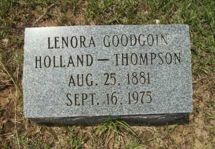 GOODGOIN HOLLAND THOMPSON, LENORA - Lincoln County, Louisiana | LENORA GOODGOIN HOLLAND THOMPSON - Louisiana Gravestone Photos