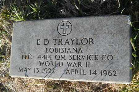 TRAYLOR, E D (VETERAN WWII) - Lincoln County, Louisiana | E D (VETERAN WWII) TRAYLOR - Louisiana Gravestone Photos