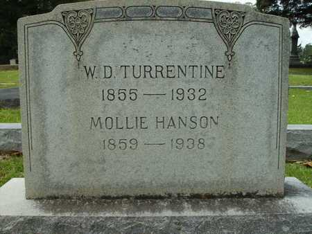 HANSON TURRENTINE, MOLLIE - Lincoln County, Louisiana | MOLLIE HANSON TURRENTINE - Louisiana Gravestone Photos