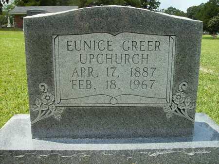 GREER UPCHURCH, EUNICE - Lincoln County, Louisiana | EUNICE GREER UPCHURCH - Louisiana Gravestone Photos