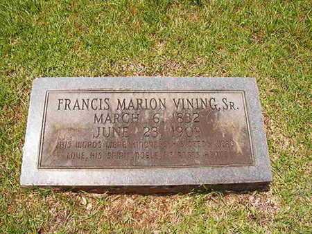 VINING, FRANCIS MARION, SR - Lincoln County, Louisiana   FRANCIS MARION, SR VINING - Louisiana Gravestone Photos