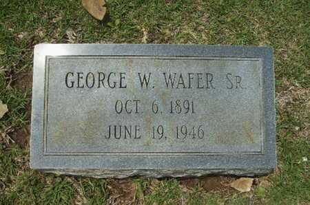 WAFER, GEORGE W, SR - Lincoln County, Louisiana | GEORGE W, SR WAFER - Louisiana Gravestone Photos