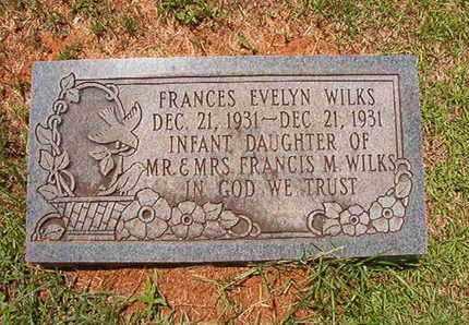 WILKS, FRANCES EVELYN - Lincoln County, Louisiana | FRANCES EVELYN WILKS - Louisiana Gravestone Photos