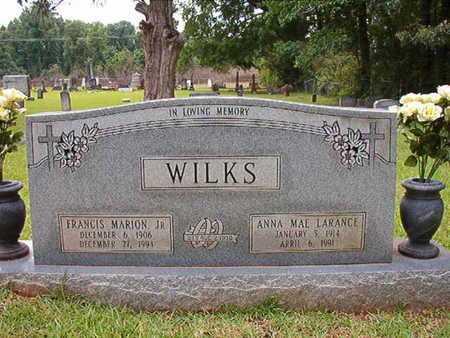 LARANCE WILKS, ANNA MAE - Lincoln County, Louisiana   ANNA MAE LARANCE WILKS - Louisiana Gravestone Photos