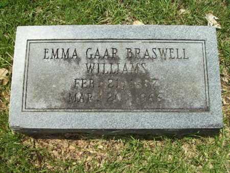 BRASWELL WILLIAMS, EMMA GAAR - Lincoln County, Louisiana | EMMA GAAR BRASWELL WILLIAMS - Louisiana Gravestone Photos
