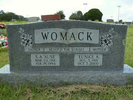 WOMACK, EUNICE A - Lincoln County, Louisiana | EUNICE A WOMACK - Louisiana Gravestone Photos
