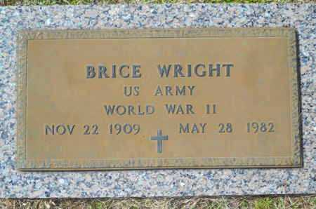 WRIGHT, BRICE (VETERAN WWII) - Lincoln County, Louisiana | BRICE (VETERAN WWII) WRIGHT - Louisiana Gravestone Photos