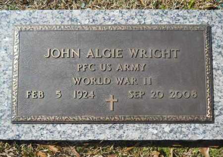 WRIGHT, JOHN ALGIE (VETERAN WWII) - Lincoln County, Louisiana   JOHN ALGIE (VETERAN WWII) WRIGHT - Louisiana Gravestone Photos