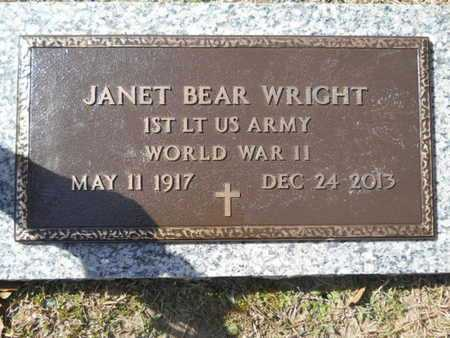 BEAR WRIGHT, JANET (VETERAN WWII) - Lincoln County, Louisiana | JANET (VETERAN WWII) BEAR WRIGHT - Louisiana Gravestone Photos
