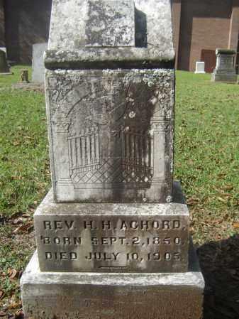 ACHORD, HARRISON H, REV - Livingston County, Louisiana | HARRISON H, REV ACHORD - Louisiana Gravestone Photos