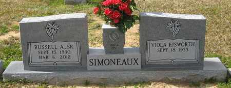 SIMONEAUX, RUSSELL A,SR - Livingston County, Louisiana | RUSSELL A,SR SIMONEAUX - Louisiana Gravestone Photos