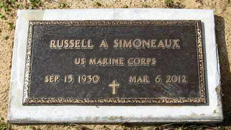 SIMONEAUX, RUSSELL A (VETERAN) - Livingston County, Louisiana | RUSSELL A (VETERAN) SIMONEAUX - Louisiana Gravestone Photos