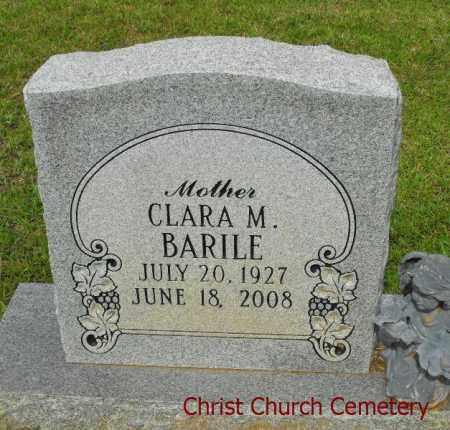 BARILE, CLARA M - Morehouse County, Louisiana | CLARA M BARILE - Louisiana Gravestone Photos