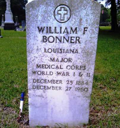 BONNER, WILLIAM F, DR (VETERAN 2 WARS) - Morehouse County, Louisiana | WILLIAM F, DR (VETERAN 2 WARS) BONNER - Louisiana Gravestone Photos