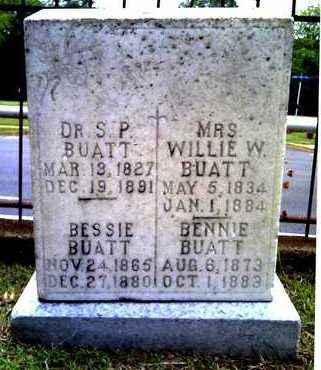 BUATT, WILLIE W, MRS - Morehouse County, Louisiana | WILLIE W, MRS BUATT - Louisiana Gravestone Photos