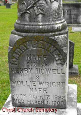 NAFF, HARRY BENNETT - Morehouse County, Louisiana | HARRY BENNETT NAFF - Louisiana Gravestone Photos