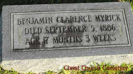 MYRICK, BENJAMIN CLARENCE - Morehouse County, Louisiana   BENJAMIN CLARENCE MYRICK - Louisiana Gravestone Photos