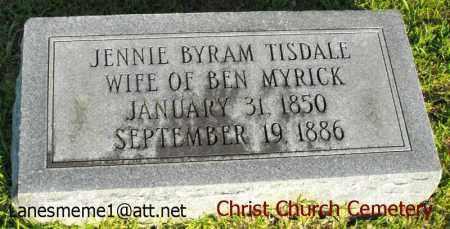 MYRICK, JENNIE - Morehouse County, Louisiana | JENNIE MYRICK - Louisiana Gravestone Photos