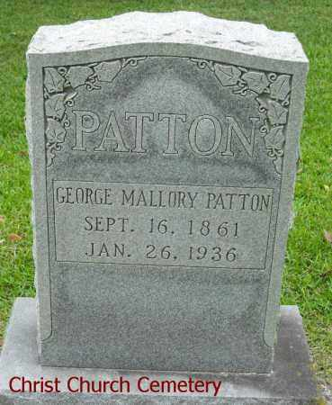 PATTON, GEORGE MALLORY - Morehouse County, Louisiana   GEORGE MALLORY PATTON - Louisiana Gravestone Photos