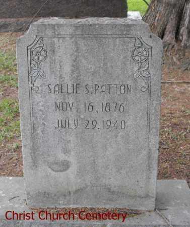PATTON, SALLIE S - Morehouse County, Louisiana | SALLIE S PATTON - Louisiana Gravestone Photos