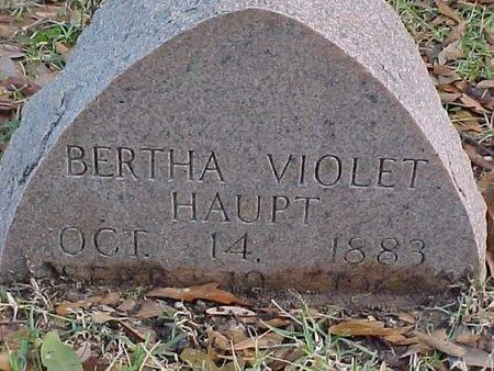 HAUPT, BERTHA VIOLET - Natchitoches County, Louisiana | BERTHA VIOLET HAUPT - Louisiana Gravestone Photos