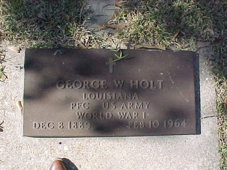 HOLT, GEORGE W (VETERAN WWI) - Natchitoches County, Louisiana | GEORGE W (VETERAN WWI) HOLT - Louisiana Gravestone Photos