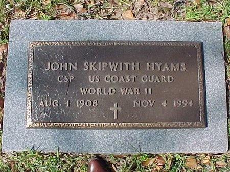 HYAMS, JOHN SKIPWITH   (VETERAN WWII) - Natchitoches County, Louisiana   JOHN SKIPWITH   (VETERAN WWII) HYAMS - Louisiana Gravestone Photos
