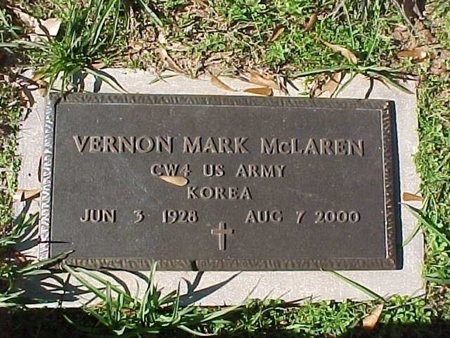MCLAREN, VERNON MARK  (VETERAN KOR) - Natchitoches County, Louisiana | VERNON MARK  (VETERAN KOR) MCLAREN - Louisiana Gravestone Photos