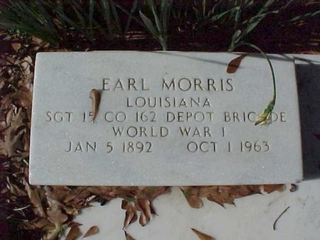 MORRIS, EARL (VETERAN WWI) - Natchitoches County, Louisiana | EARL (VETERAN WWI) MORRIS - Louisiana Gravestone Photos