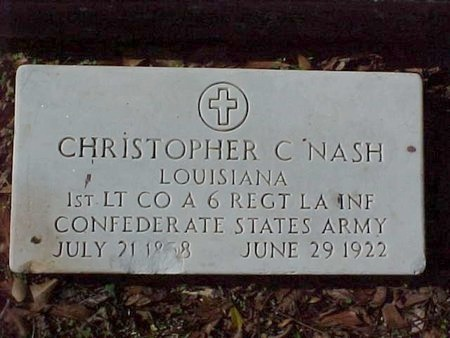 NASH, CHRISTOPHER COLUMBUS (VETERAN CSA) - Natchitoches County, Louisiana   CHRISTOPHER COLUMBUS (VETERAN CSA) NASH - Louisiana Gravestone Photos