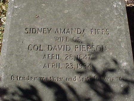 PIPES PIERSON, SIDNEY AMANDA - Natchitoches County, Louisiana | SIDNEY AMANDA PIPES PIERSON - Louisiana Gravestone Photos