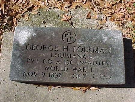 POLEMAN, GEORGE H  (VETERAN WWI) - Natchitoches County, Louisiana   GEORGE H  (VETERAN WWI) POLEMAN - Louisiana Gravestone Photos