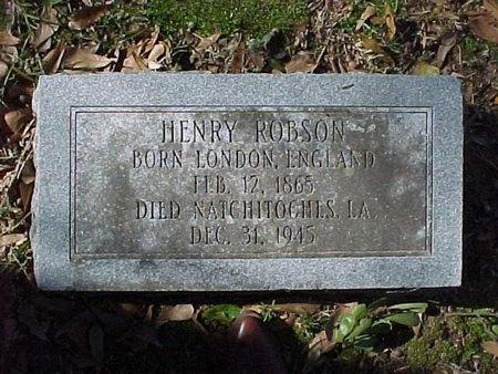 ROBSON, HENRY - Natchitoches County, Louisiana | HENRY ROBSON - Louisiana Gravestone Photos