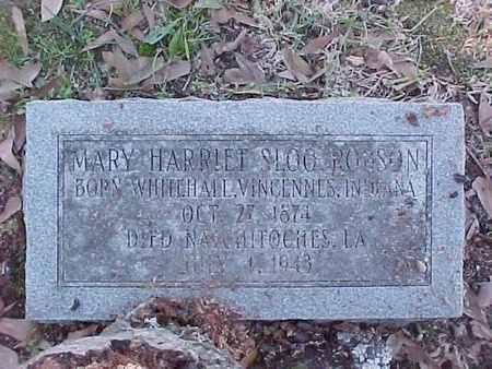 SLOO ROBSON, MARY HARRIET - Natchitoches County, Louisiana | MARY HARRIET SLOO ROBSON - Louisiana Gravestone Photos