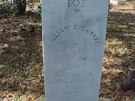 RUSSELL, WILLIAM E  (VETERAN CSA) - Natchitoches County, Louisiana | WILLIAM E  (VETERAN CSA) RUSSELL - Louisiana Gravestone Photos