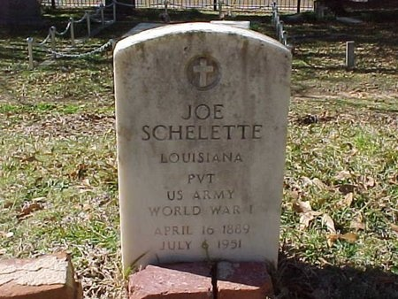 SCHELETTE, JOE (VETERAN WWI) - Natchitoches County, Louisiana | JOE (VETERAN WWI) SCHELETTE - Louisiana Gravestone Photos
