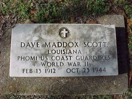 SCOTT, DAVE MADDOX (VETERAN WWII) - Natchitoches County, Louisiana | DAVE MADDOX (VETERAN WWII) SCOTT - Louisiana Gravestone Photos