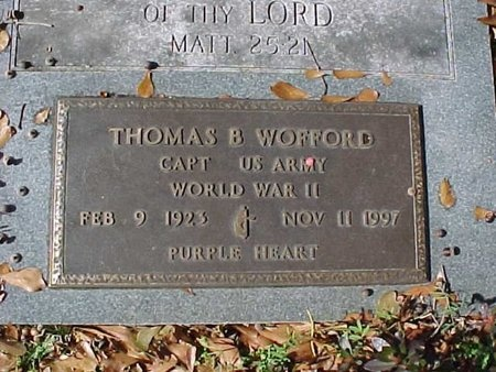 WOFFORD, THOMAS BUSHROD (VETERAN WWII) - Natchitoches County, Louisiana | THOMAS BUSHROD (VETERAN WWII) WOFFORD - Louisiana Gravestone Photos